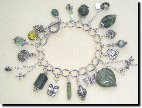 Bracelet commissioned by a lady who loves green